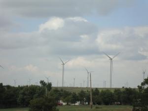 Central Kansas wind farm.