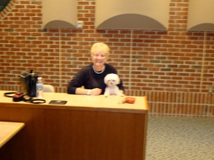 Toni, my agent, handler, dog wrangler and all around angel.