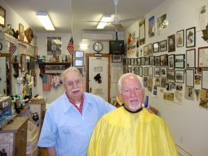 Marty Trunzo gives me a trim and a tale or two.