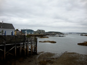 Stonington Harbor looking out at Isle au Haut Bay and the Atlantic Ocean.