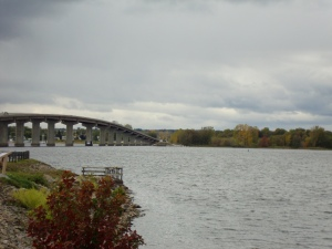 Bridge to Rouses Point, New York across Lake Champlain