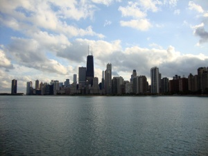 Chicago on Lake Michigan.