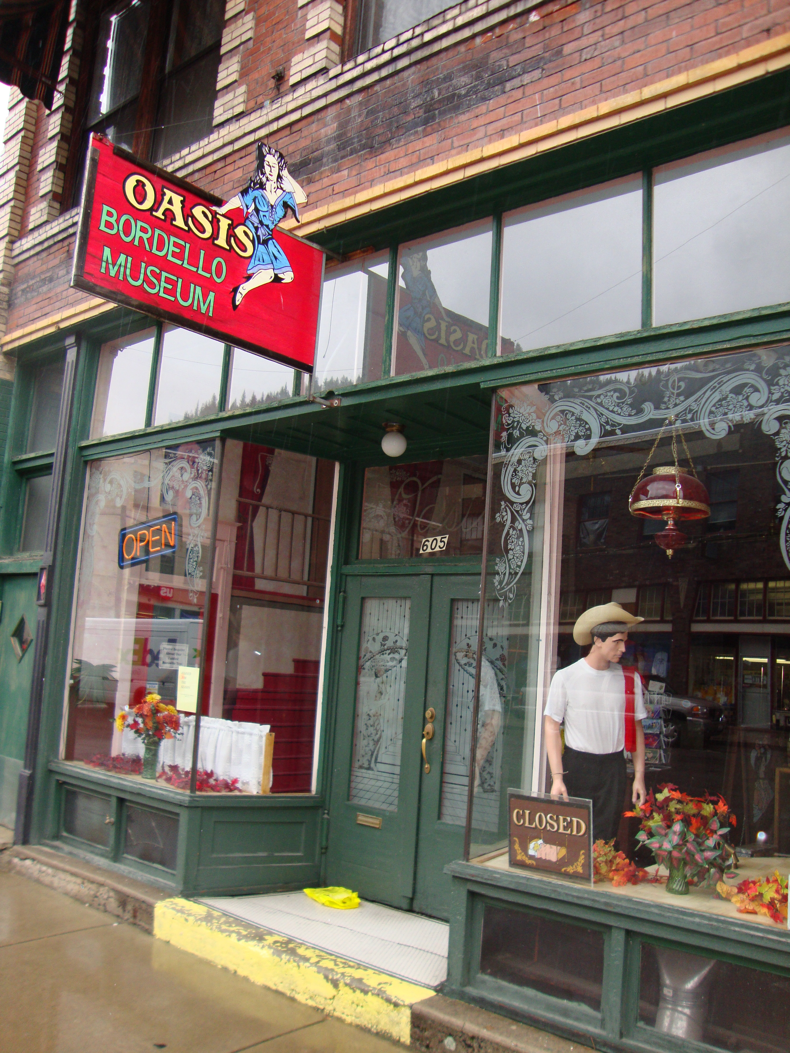 the oasis bordello museum in wallace