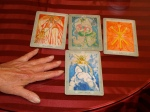 "MY ""green light"" Tarot cards on Cannery Row."