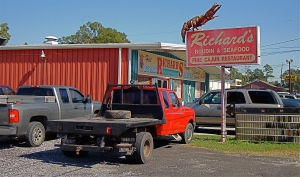 Cajun food in Sulphur, Louisiana.